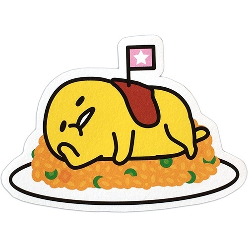 Gudetama super cute. On fried rice mini