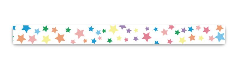 Washi tape gekleurde sterretjes