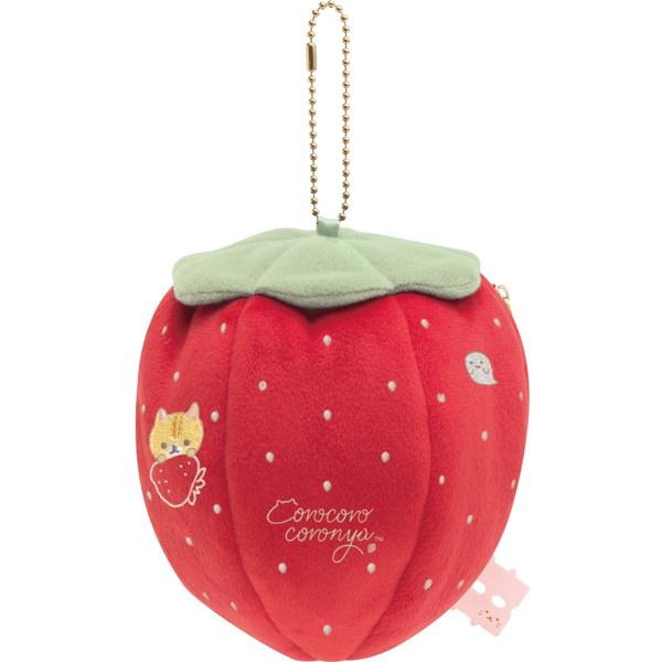 Corocoro Coronya Strawberry plush pouch