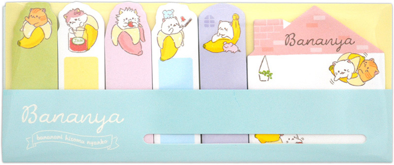 Sticky notes Bananya blauw