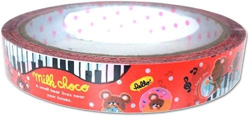 Decorated tape medium Milk Choco