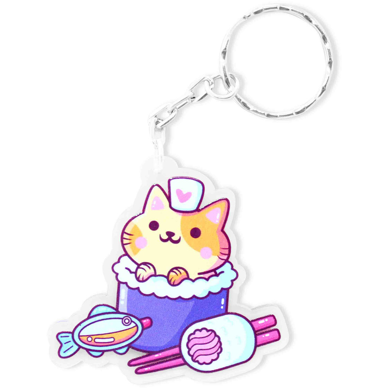 Keychain Sushi Cat