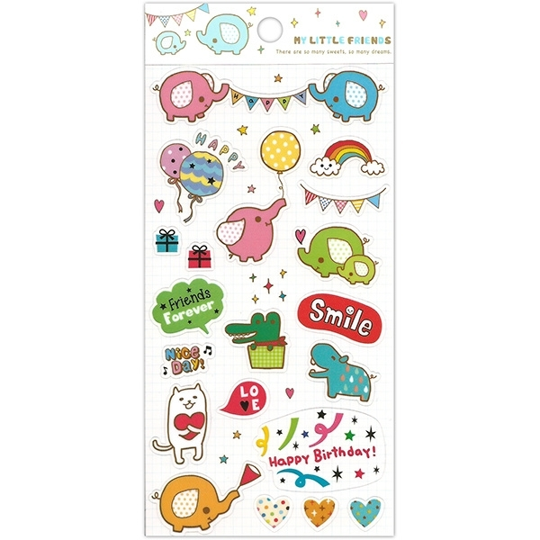 Sticker sheet My Little Friends Party
