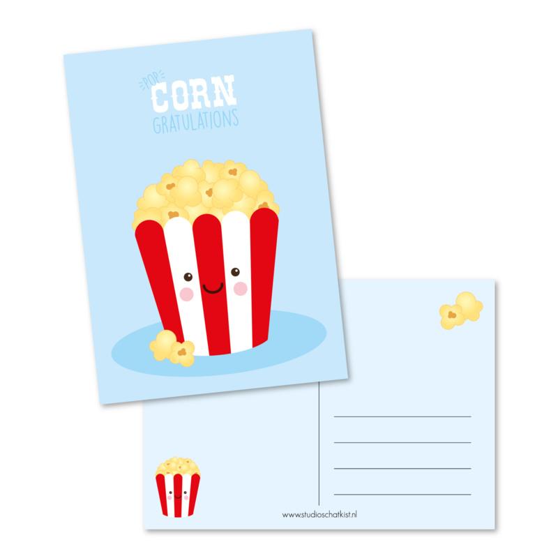 Postcard popcorngratulations