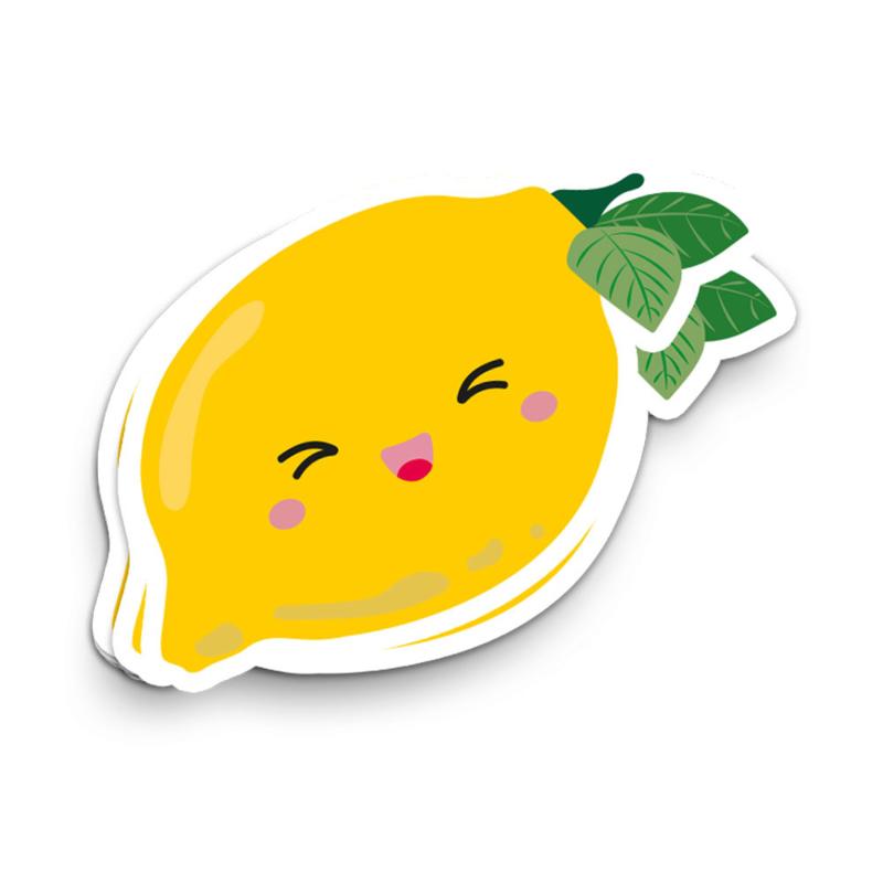 XL vinyl sticker   lemon