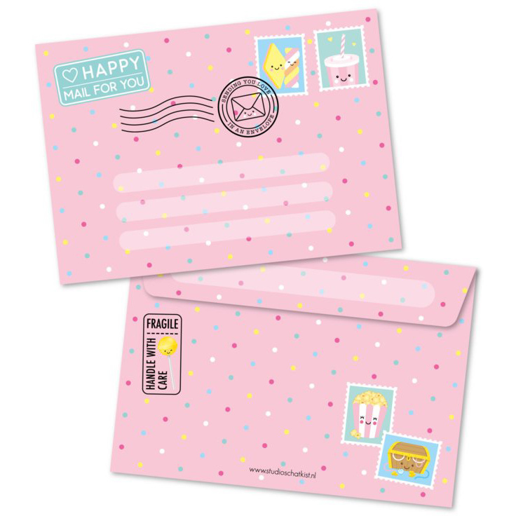 Envelop Happy Mail For You - roze