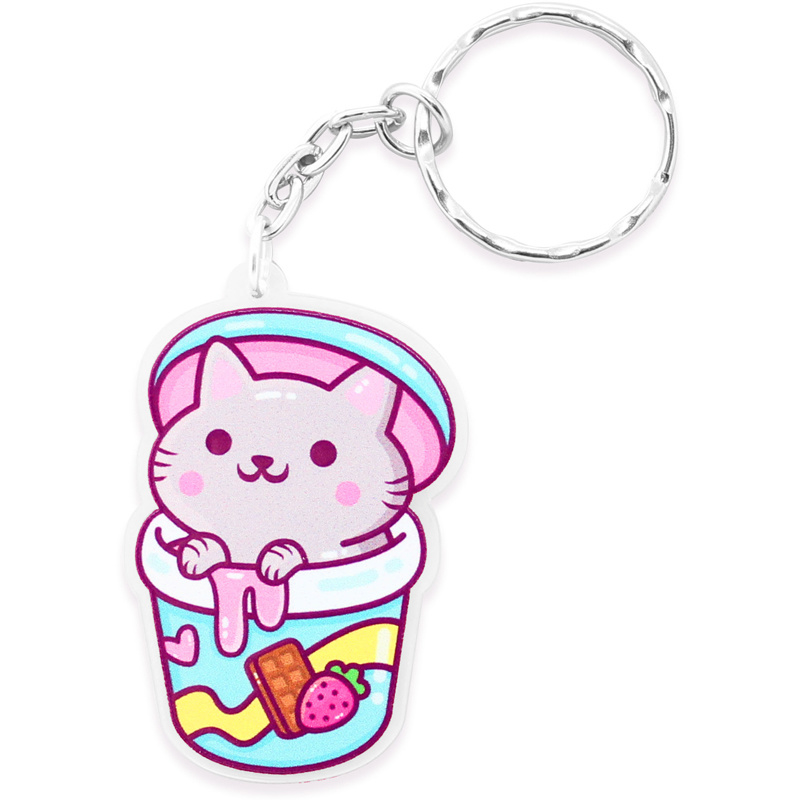 Keychain Ice Cream Cat