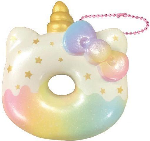 Hello Kitty Big Donut Unicorn squishy - goud
