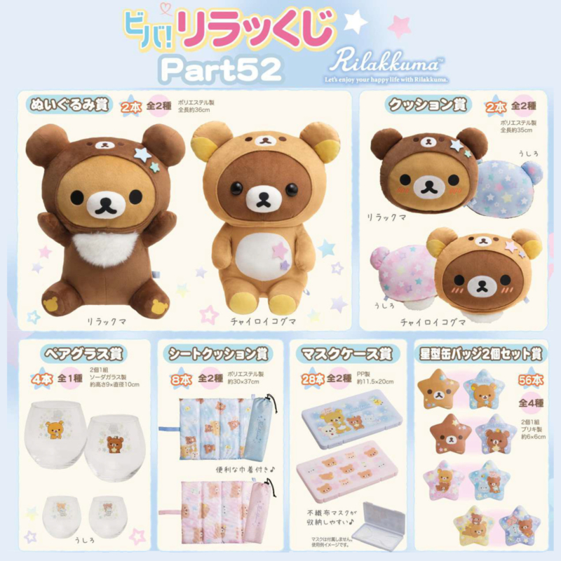 Expected kuji games on Cuteness.nl