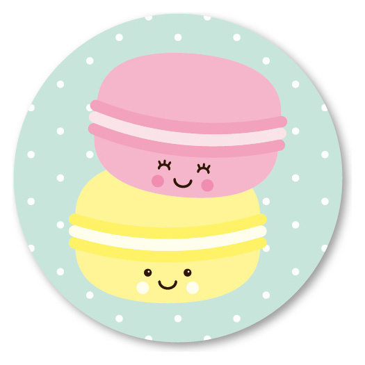 5 ronde stickers | macarons