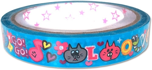 Decorated tape medium Happy Love