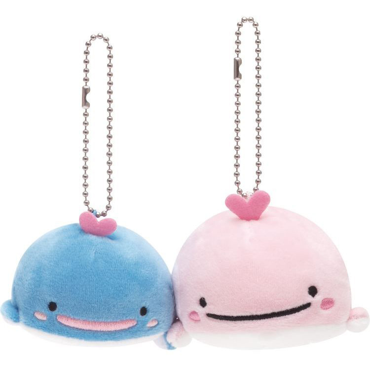 San-X Maigo no Kokujira & Mother Super Mochi Mochi keychain