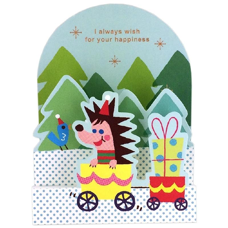 Mini kerstkaart Hedgehog