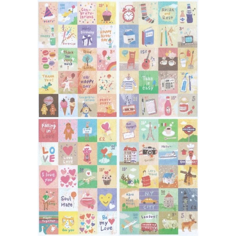 Sticker set Lifestyle (4 sheets)