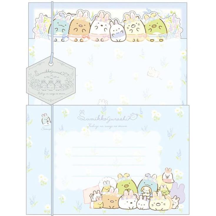 Briefpapier set Sumikkogurashi Mysterious Rabbit