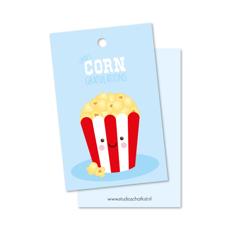Label popcorngratulations