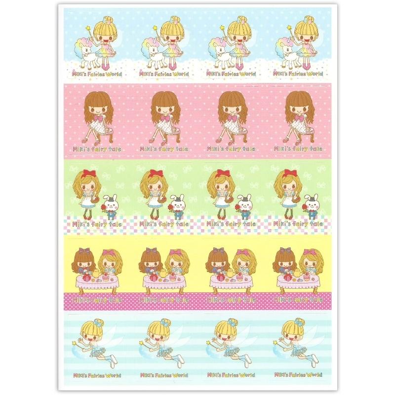 Sticker sheet Miki's Fairies World & Fairy Tale
