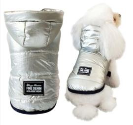 Mouwloze hondenjas zilverkleurig | M, XL, XXL