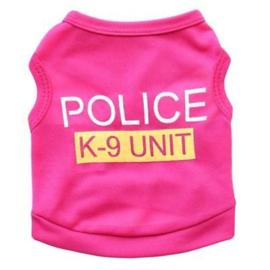 honden shirtje Police | roze | XS, S, M, L