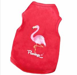 Hondenshirt Flamingo | rood | XS, L