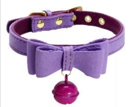 "Puppy halsband ""PRECIOUS"" | Paars | XXS, XS"