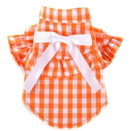 Oranje hondenshirt