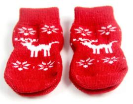 Hondensokjes kerst, rendier | S
