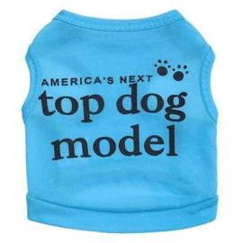 honden shirt Top dog model | blauw | XS,  M, L