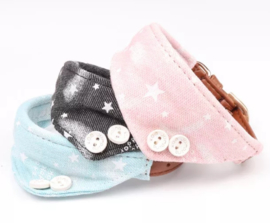 Puppy halsband met bandana | Roze, zwart, blauw