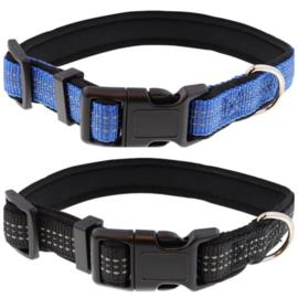 Puppy halsband zwart of blauw