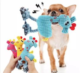 Pluche hondenspeelgoed met pieper