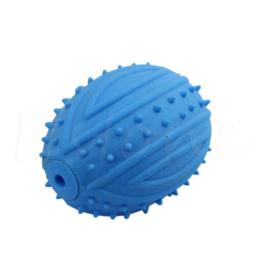 Denta bal met pieper | blauw | 9x7cm
