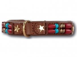 DOXTASY leren halsband Brown Fox 20mm