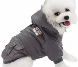 "Hondenjas ""Adventure Dog"" grijs | S, L"