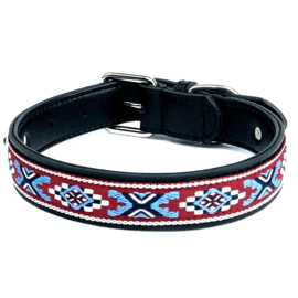 Indian style honden halsband dubbellaags | S