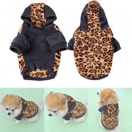 Warme fleece hoodie met luipaard print | XS, S, M, XL