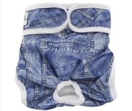 Loopsheidbroekje jeans look