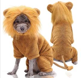Honden kostuum leeuw, onesie | XS, S, M, XL