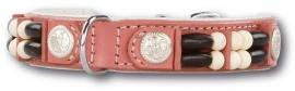 DOXTASY leren honden halsband Pink Eagle 15mm