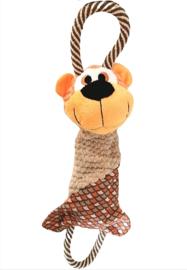 Hondenspeelgoed pluche met touw en geluiden  44cm