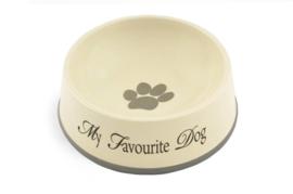 Luxe voerbak My Favourite Dog   19cm