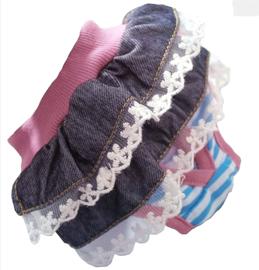 Loopsheidbroekje  | blauw / roze |  S, M,L