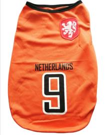 Oranje hondenshirt EK voetbal Nederland | XS, S, M, L, XL, XXL, 3XL, 4XL, 6XL