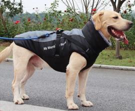 Regenjas voor grote hond | zwart/antraciet | 4XL, 5XL, 6XL