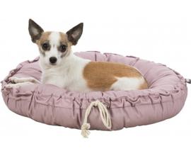 FELIA hondenmand en kussen | roze | 50cm