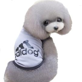 Mouwloos hondenshirt | grijs | M