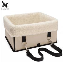 TAILLUP Honden autostoel met bont| 34x29x18cm