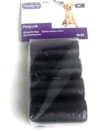 hondenpoepzakjes maat M | zwart