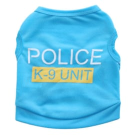 honden shirtje Police | blauw | XS, S, M, L