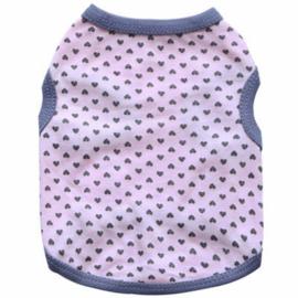 DROOLINGDOG fashion hondenshirt | lichtroze/grijs | XS, S, M, L